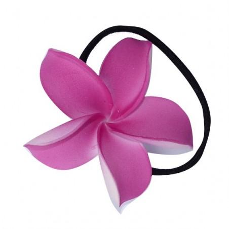 Elastique à cheveux frangipane rose foncé