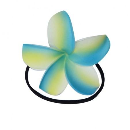 Elastique à cheveux turquoise frangipane