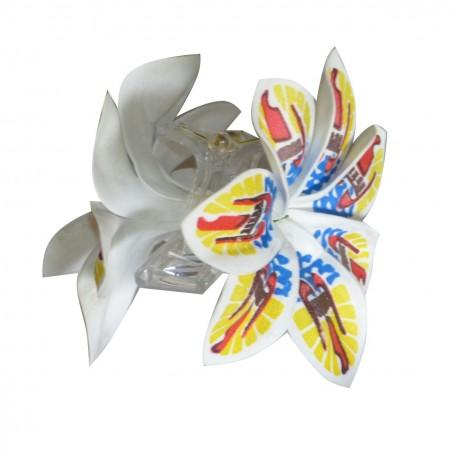 Pince Croco fleur DRAPEAU Polyénsie