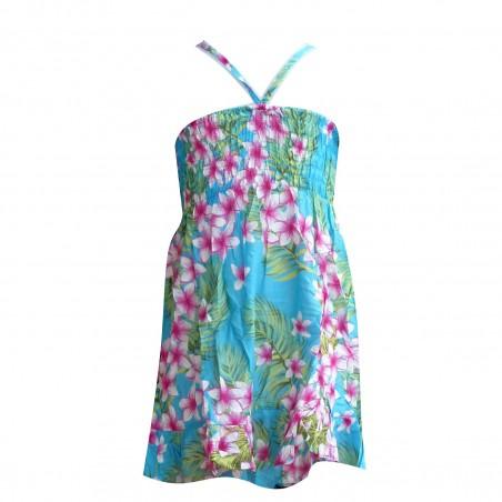 robe enfant turquoise Frangipane Forest