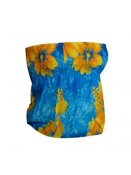 Bustier froncé femme Gauguin Hibiscus