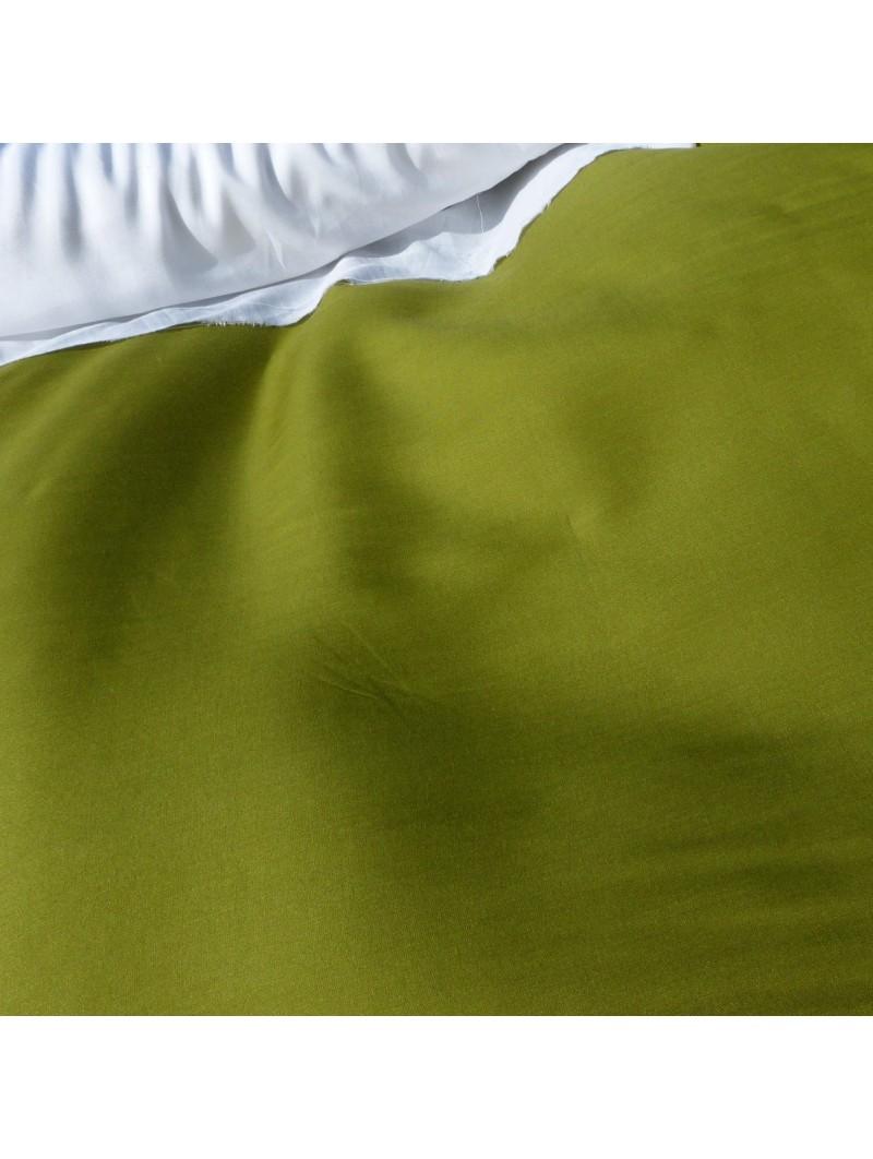 Tissu uni vert kaki fibrane