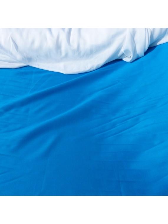 Tissu uni bleu claire fibrane