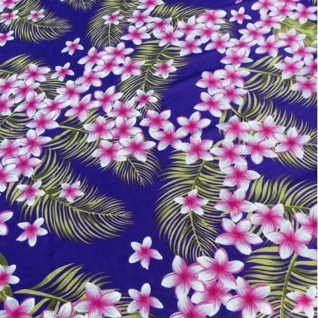 Tissu vioet frangipane forest
