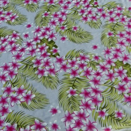 Tissu blanc frangipane forest