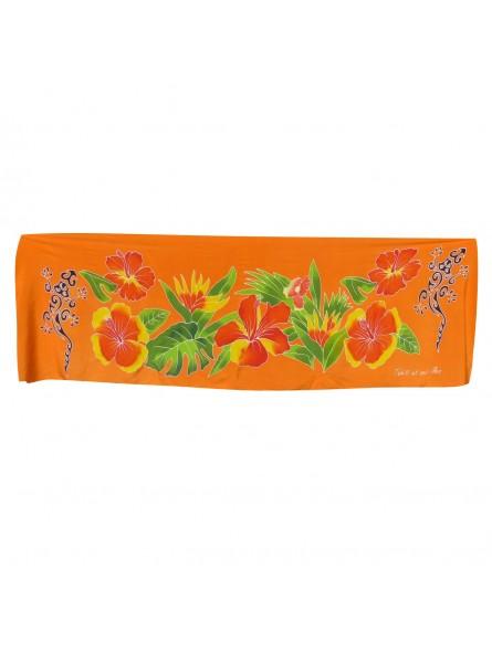 Mini paréo Orange, écharpe margouillat
