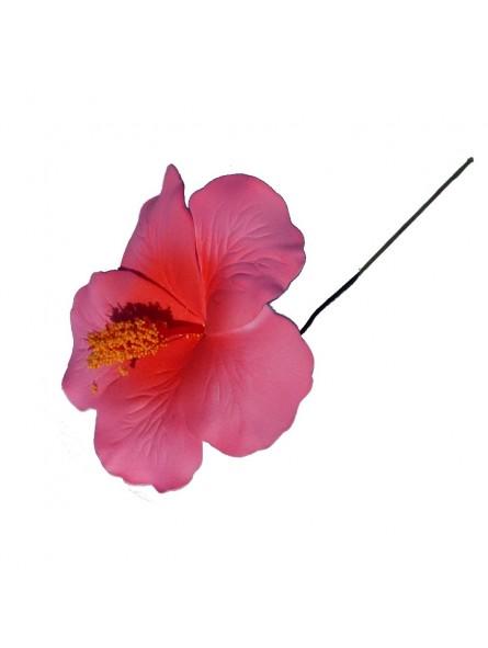 hibiscus rose sur tige m tale produit pacifique. Black Bedroom Furniture Sets. Home Design Ideas