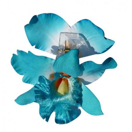 Pinces à cheveux bleu roi croco orchidée