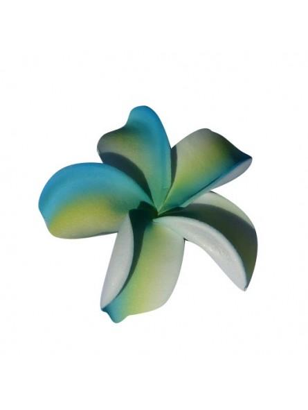 Barrette à cheveux frangipane turquoise