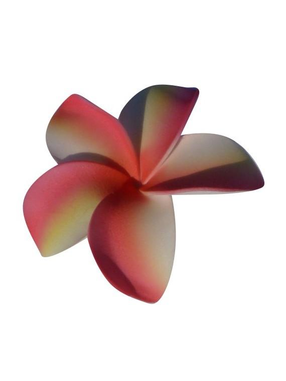 Barrette à cheveux frangipane marbré rose
