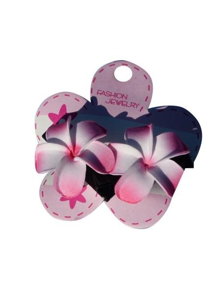 Mini barrette à cheveux frangipane rose