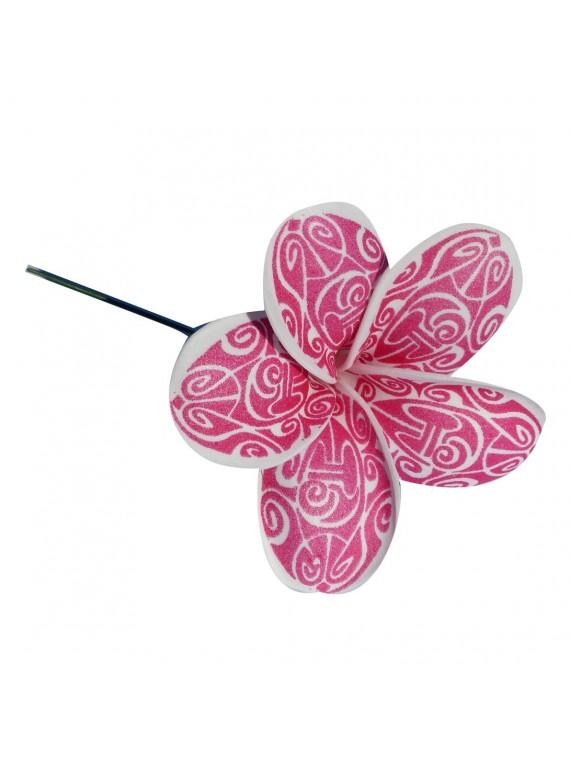 Fleur rose maori sur pic