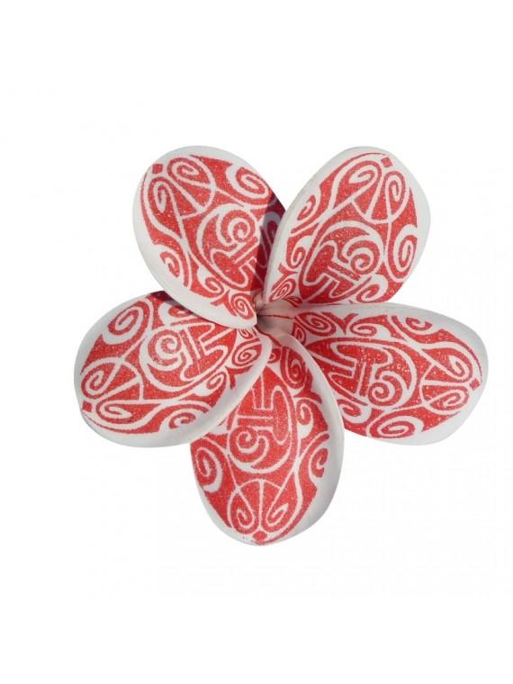 Fleur rouge marori sur barrette