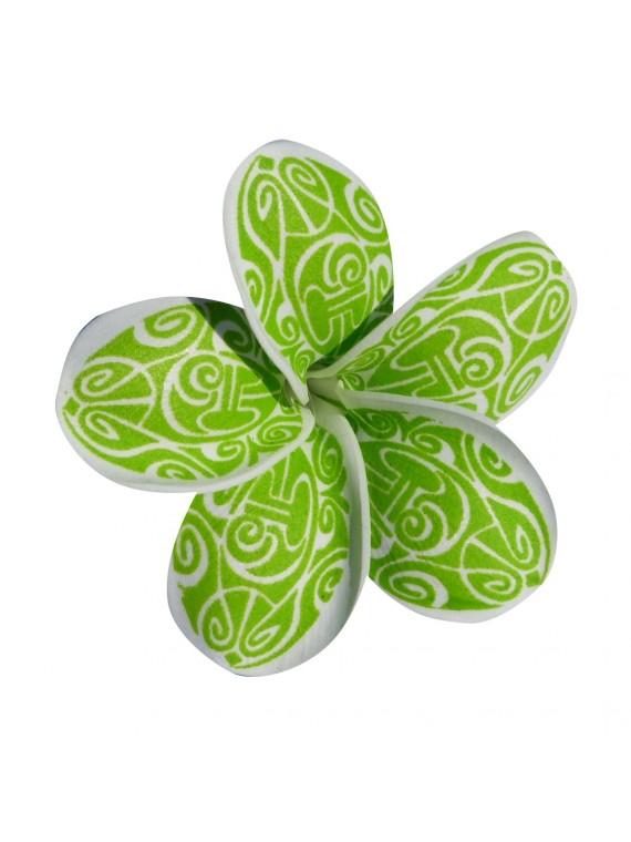 Fleur verte marori sur barrette